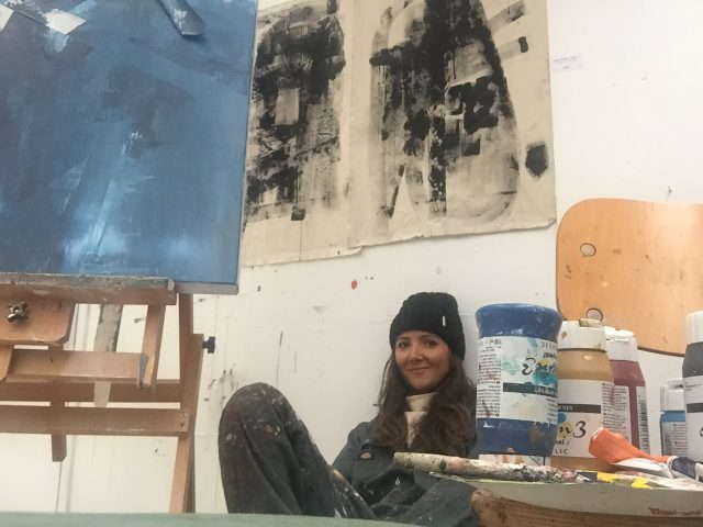 art studio, working artist, London artist,